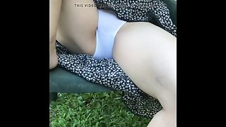 teasing the neighbor upskirt white cotton panties
