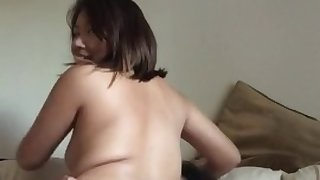 asian girlfriend rides dick