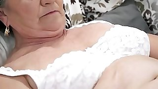 Old unshaved pussy filled with young pipe